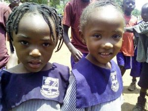 Prefina at school (shown on right)