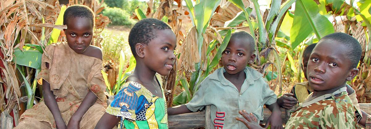 Children living in the Kyangwali Refugee Settlement, Uganda (Peopleweaver)